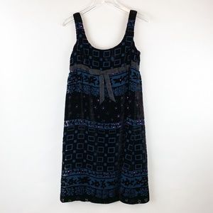 Anna Sui Vintage Velvet Empire Waist Dress 4